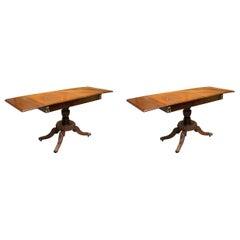 Pair of Regency Style Sofa Tables