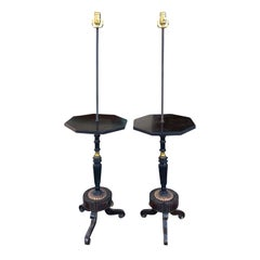 Pair of Regency Style Tables with Period Elements as Floor Lamps