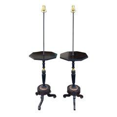 Ein Paar Regency Stil Tische mit Period Elementen als Stehlampen