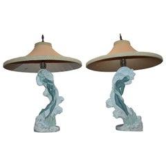 Pair of Reglor of California Lamps with Original Shade
