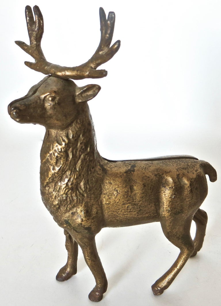Pair of Reindeer Antique Still Banks, American, circa 1910 For Sale 4