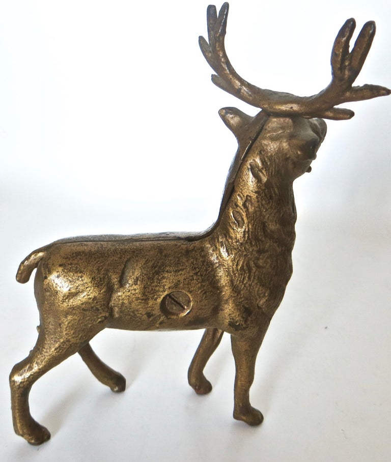 Pair of Reindeer Antique Still Banks, American, circa 1910 For Sale 5