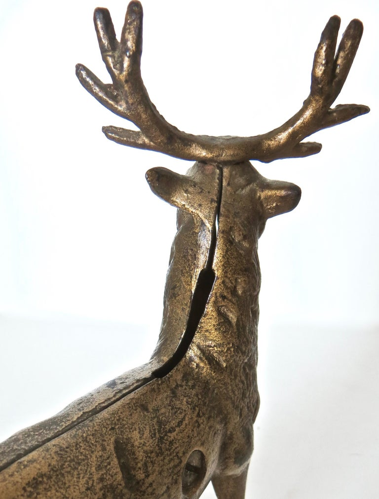 Pair of Reindeer Antique Still Banks, American, circa 1910 For Sale 7