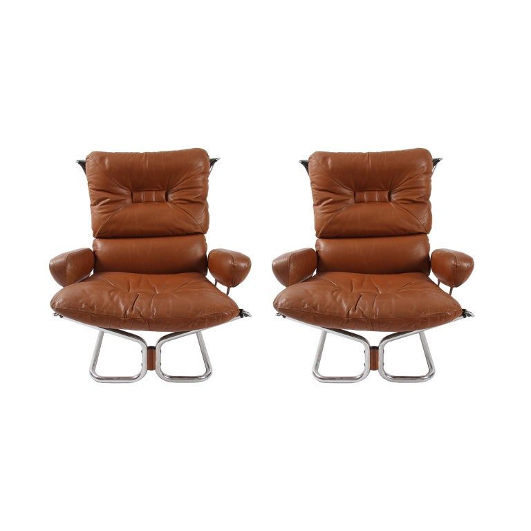 Late 20th Century Pair of Relling Chairs For Sale