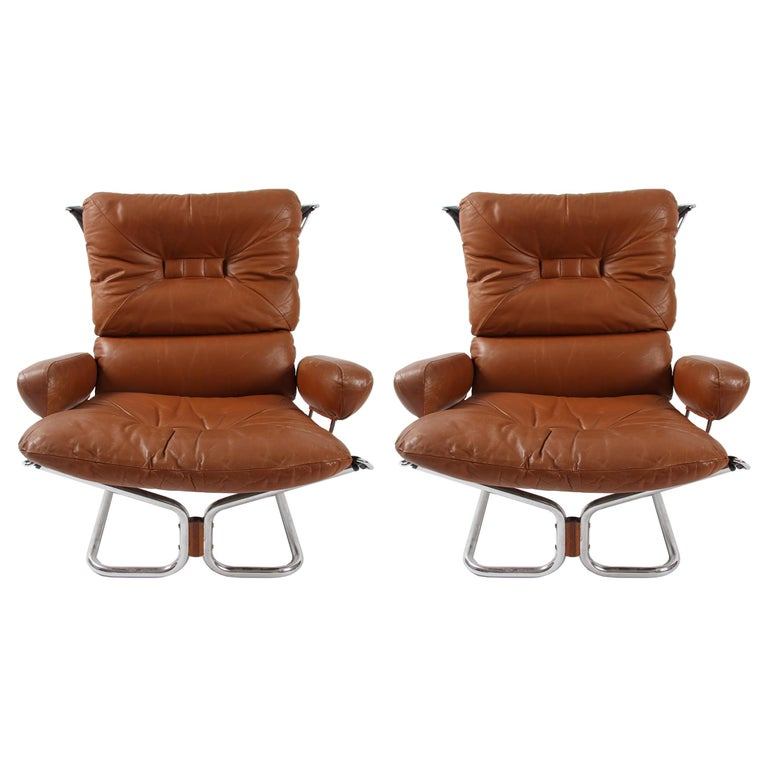 Pair of Relling Chairs For Sale
