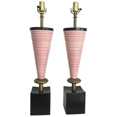 Pair of Rembrandt Ceramic Lamps