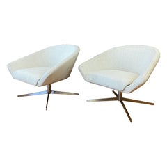 Pair of Remy Lounge Chairs by Jeffrey Bernett for Bernhardt Design