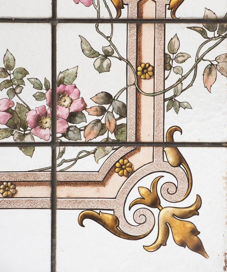 Glass Pair of Renaissance Revival Shutters, France, circa 1900 For Sale