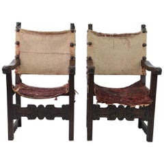 Pair of Renaissance Style Armchairs