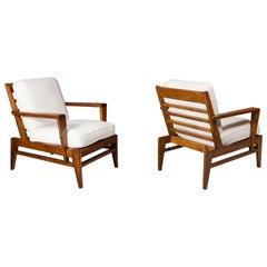 Pair of René Gabriel Lounge Chairs, France, 1950s