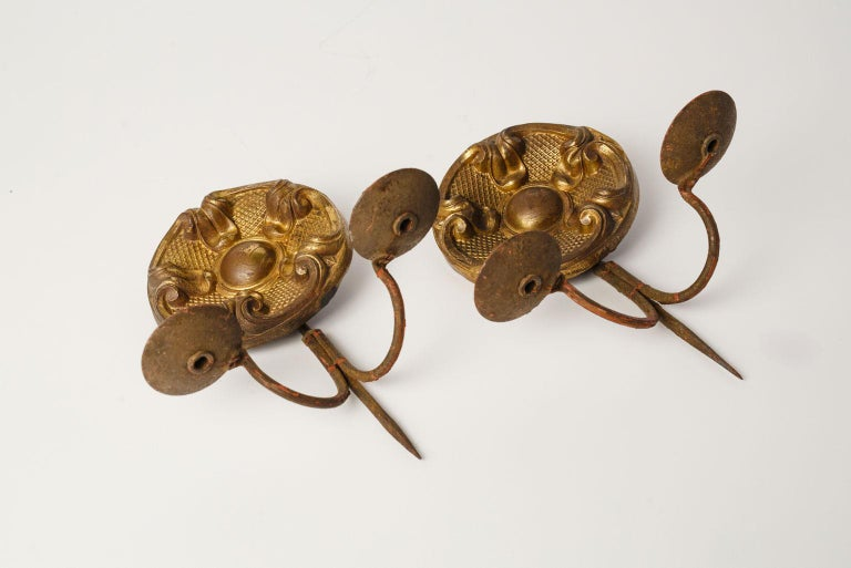 Pair of Repousse Sconces In Good Condition For Sale In Houston, TX
