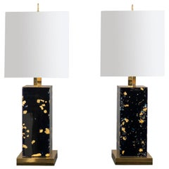 Pair of Resin Lamps, Italy and USA, 2018