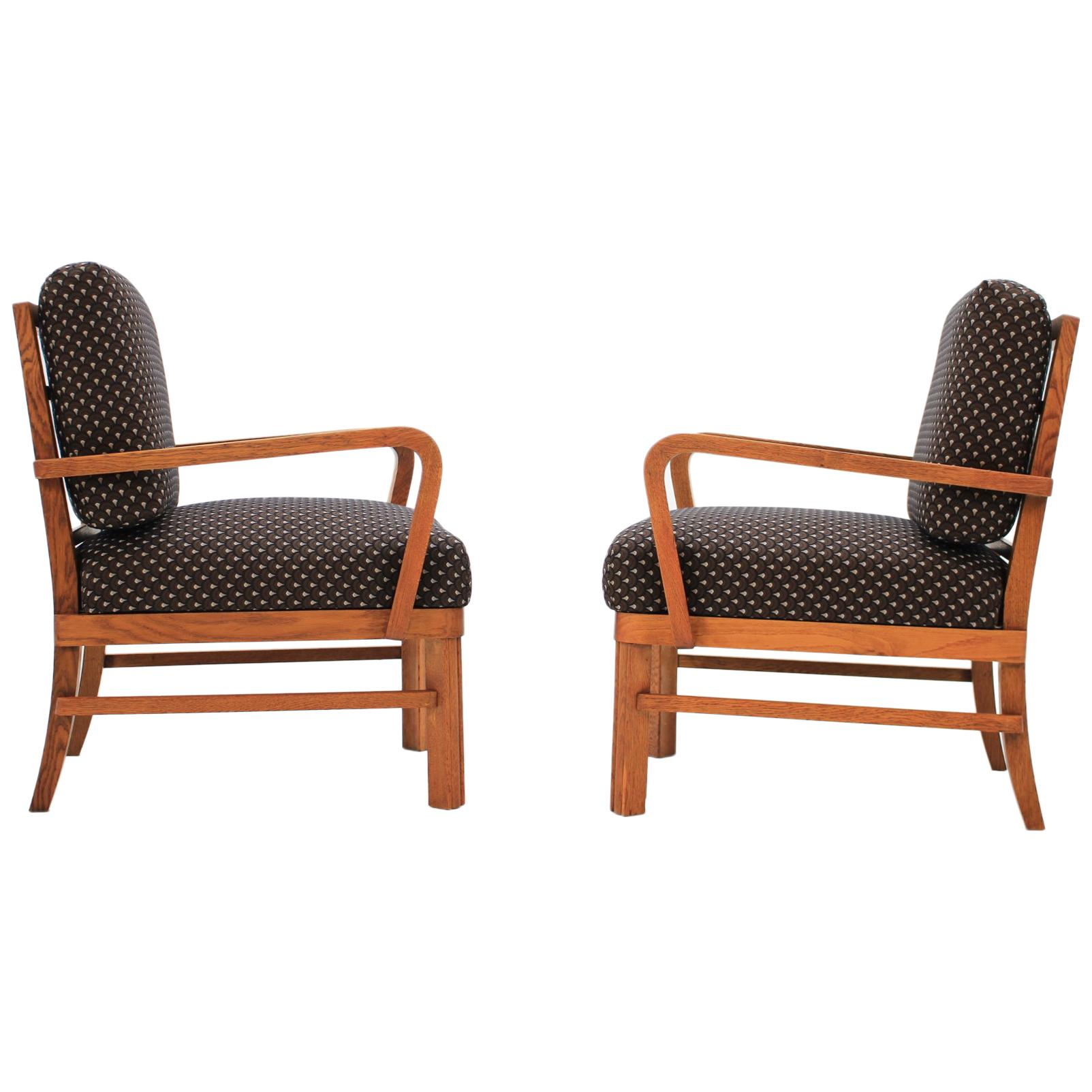 Pair of Restored Armchairs, 1950s