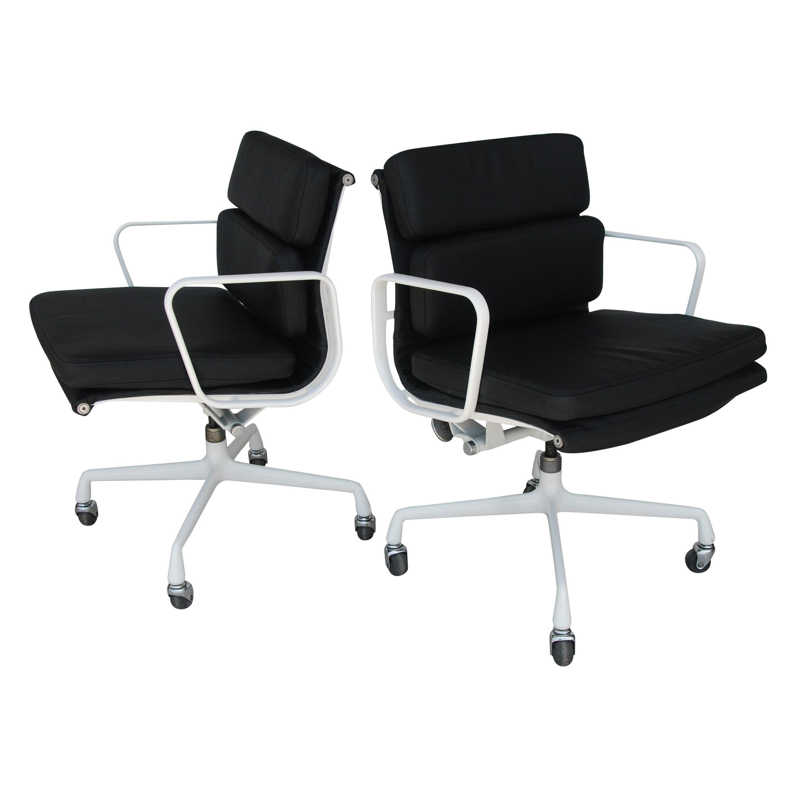 Pair of Restored Herman Miller Eames Aluminum Group Management Chairs