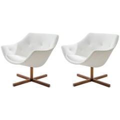Pair of Restored Mandariini Lounge Chairs by Carl-Gustaf Hiort Af Ornäs in 1960
