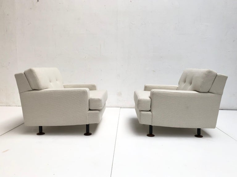 Mid-20th Century Pair of Restored 'SQUARE' Lounge Chairs by Zanuso for Arflex,Italy, 1962, Signed For Sale