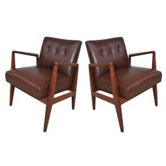Pair of Restored Vintage Midcentury Jens Risom Lounge Chairs