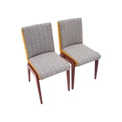 "Pair of Retro Chairs by Józef Chierowski, Model ""Aga"", Polish Design, 1970s"
