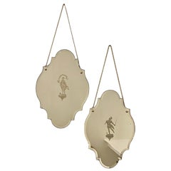Pair of Reverse Etched Mirrors