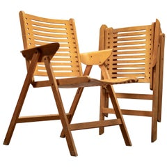 Pair of Rex Folding Lounge Chairs Designed by Niko Kralj for Rex in 1952