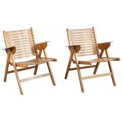Pair of Rex Lounge Chairs Designed by Niko Kralj, 1952