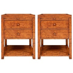 Pair of Richard Mulligan Sussex End Tables with Pull Out Trays