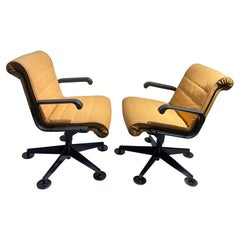 Pair of Richard Sapper for Knoll Executive Desk Chairs
