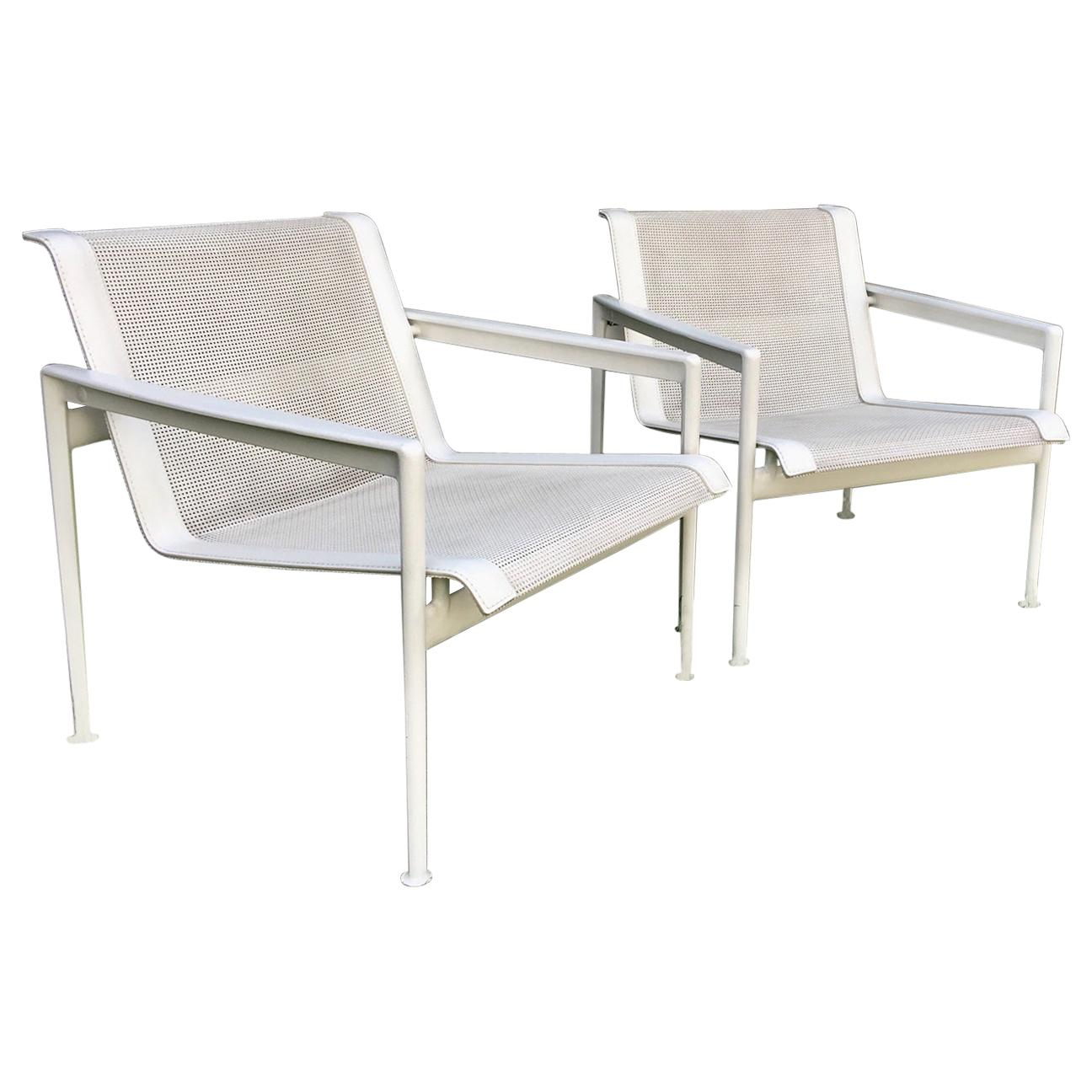Pair of Richard Schultz 1966 Series Lounge Chair with Arms for B & B Italia