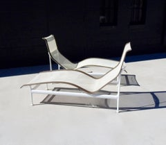 Pair of Richard Schultz Knoll 1966 Leisure group chaise lounges