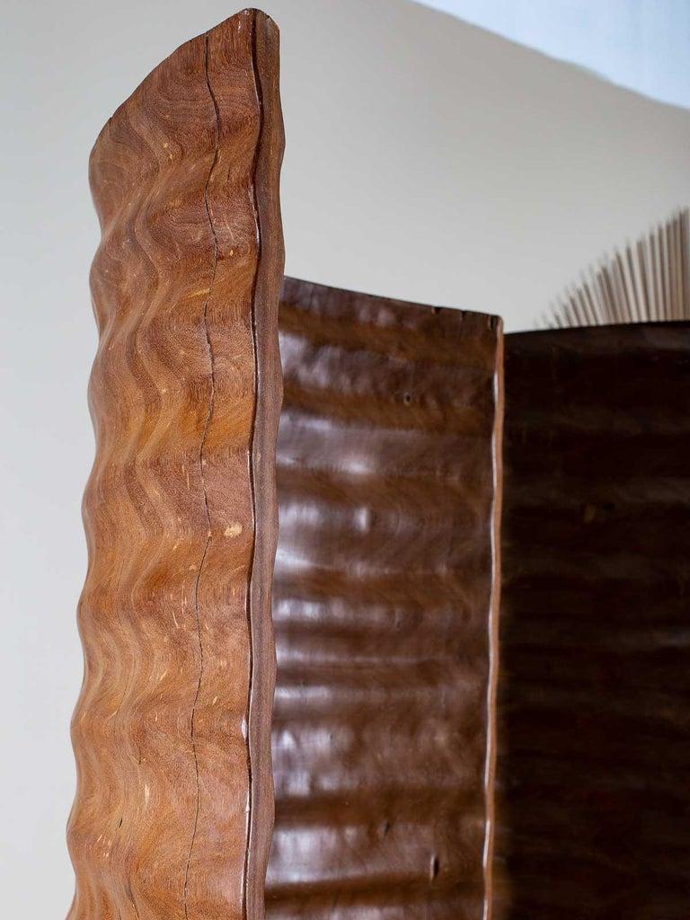 Pair of Richard Serra Inspired Tall Solid Teak Sculptures, circa 2000 For Sale 5