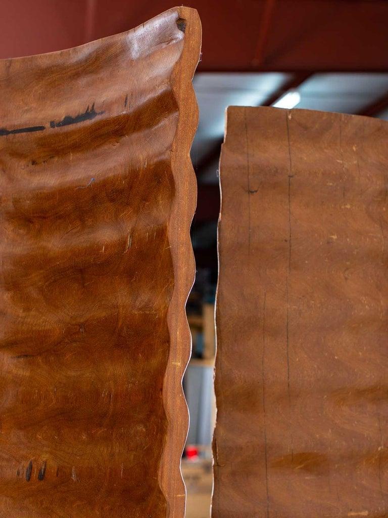 Pair of Richard Serra Inspired Tall Solid Teak Sculptures, circa 2000 For Sale 6