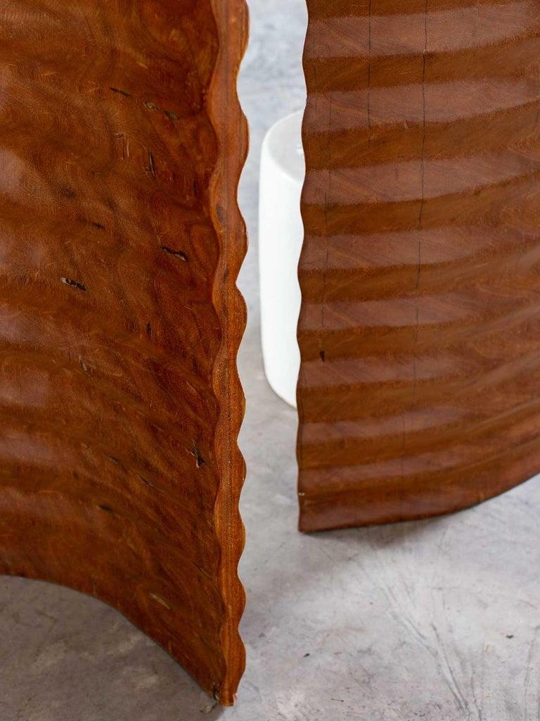 Pair of Richard Serra Inspired Tall Solid Teak Sculptures, circa 2000 For Sale 10