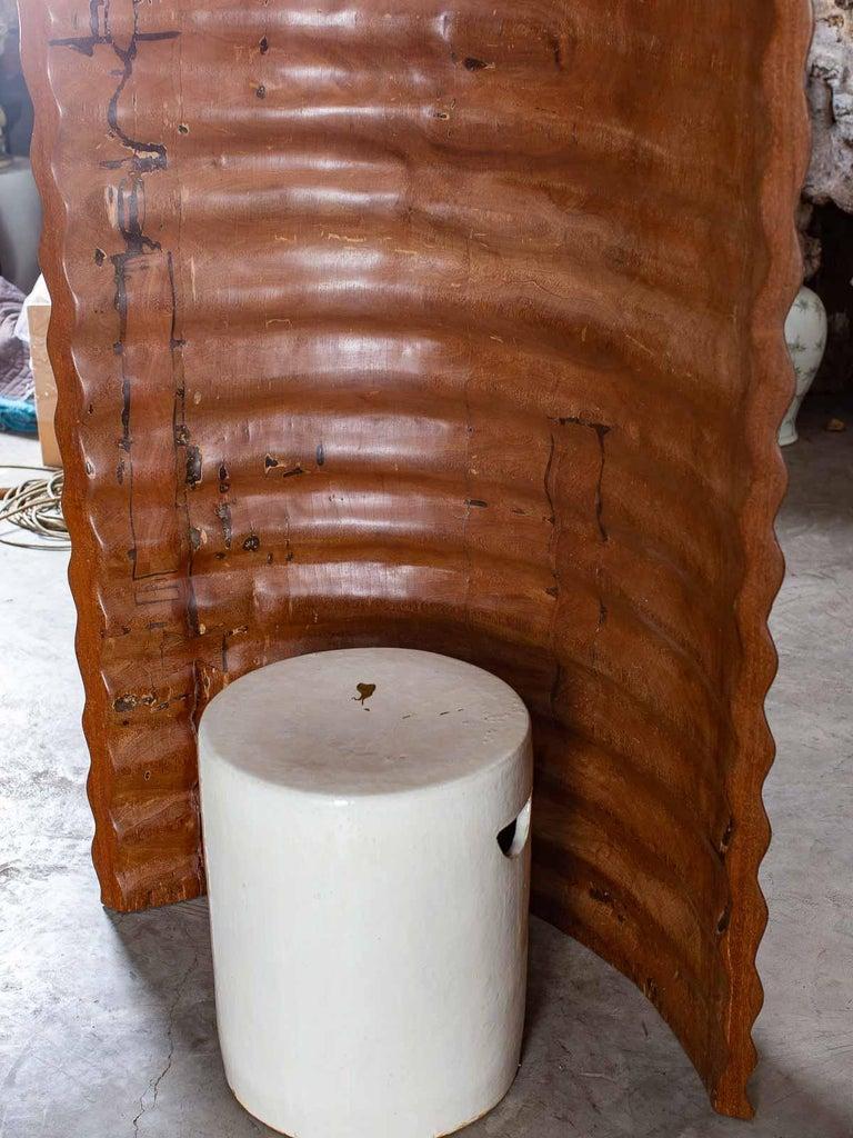 Pair of Richard Serra Inspired Tall Solid Teak Sculptures, circa 2000 For Sale 12