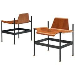 Pair of Rinaldo Scaioli and Eugenia Alberti Reggio Easy Chairs in Teak