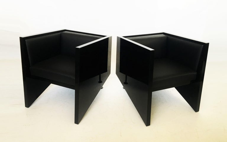 Dutch Pair of Rob Eckhardt Dolores Armchairs by Pastoe, 1982 For Sale