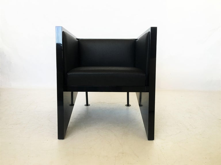 Lacquered Pair of Rob Eckhardt Dolores Armchairs by Pastoe, 1982 For Sale