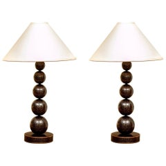 Pair of Robert Kuo Palais Cloisonne Table Lamps