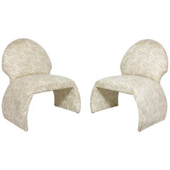 Pair of Robert Marcius for Casa Bique Slipper Chairs, circa 1980s