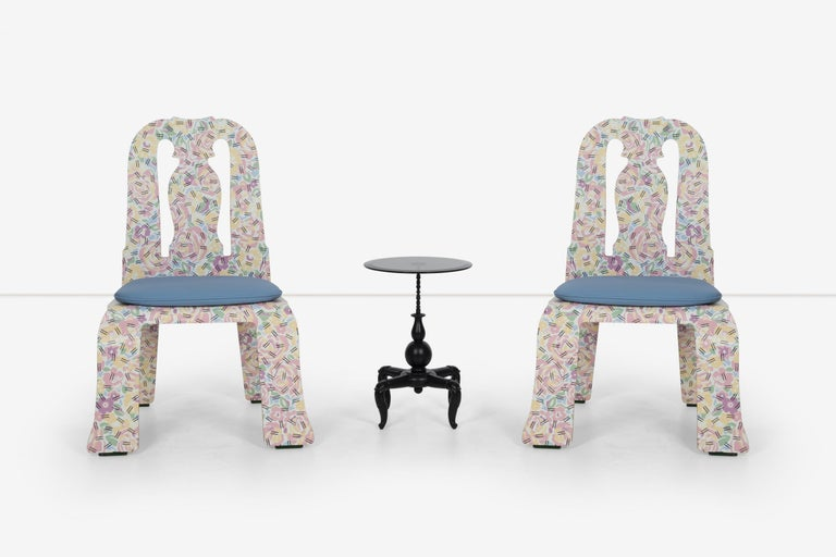 Post-Modern Pair of Robert Venturi Queen Anne Chairs for Knoll For Sale