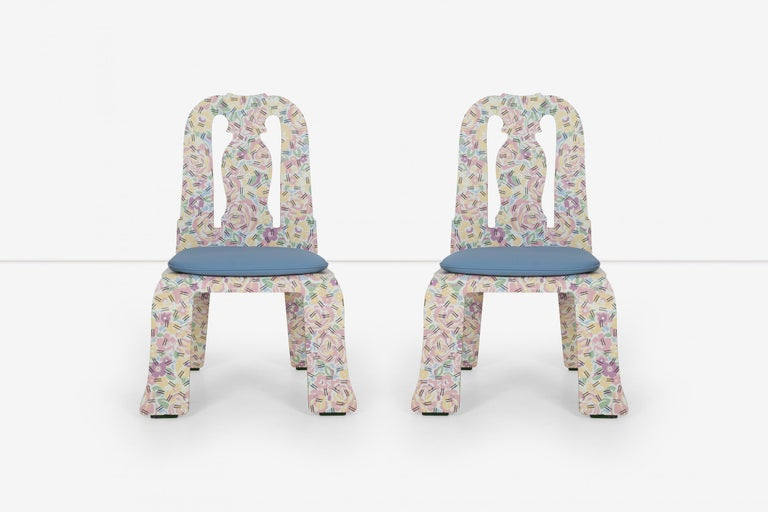 American Pair of Robert Venturi Queen Anne Chairs for Knoll For Sale
