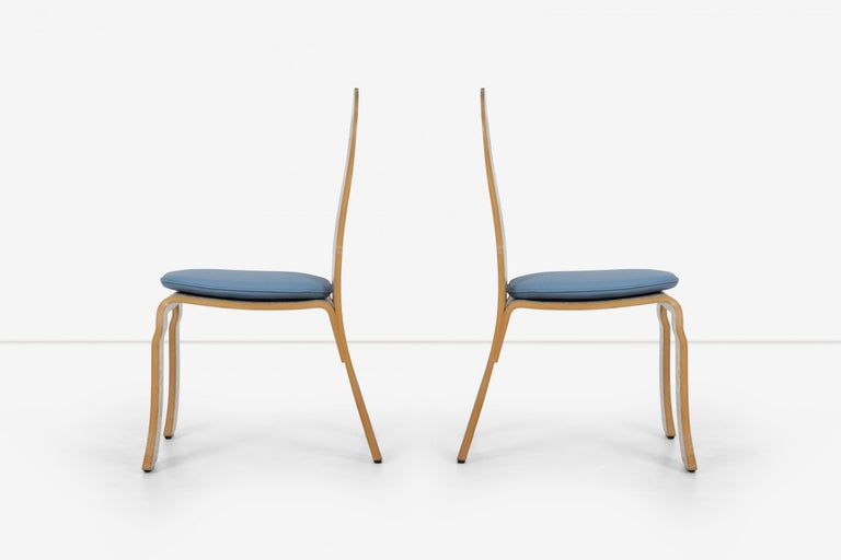 Pair of Robert Venturi Queen Anne Chairs for Knoll In Good Condition For Sale In Chicago, IL