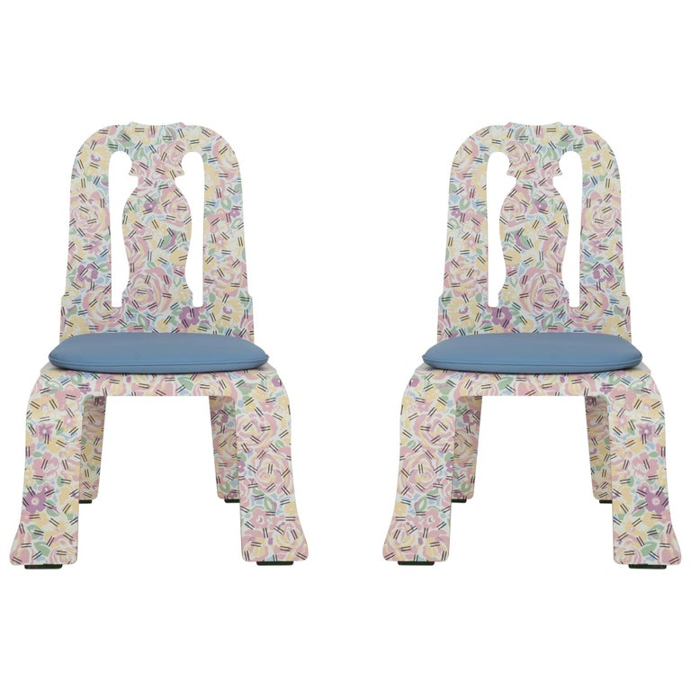 Pair of Robert Venturi Queen Anne Chairs for Knoll For Sale