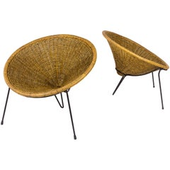 Pair of Roberto Mango Club Chairs, circa 1950, Italy
