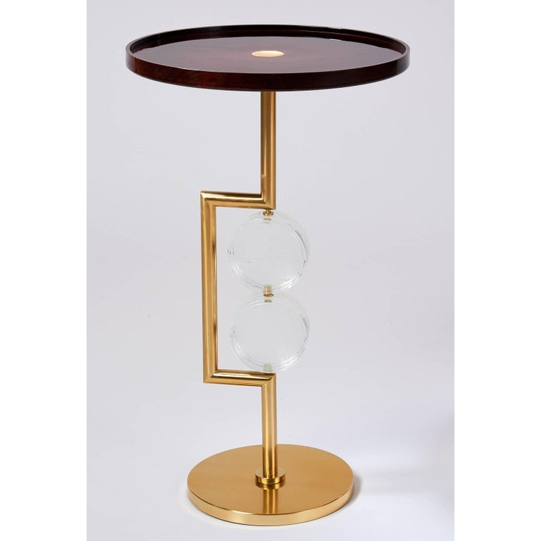 Mid-Century Modern Pair of Roberto Rida Bottoni Side Tables For Sale