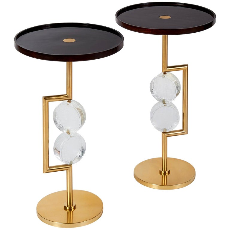 Pair of Roberto Rida Bottoni Side Tables For Sale