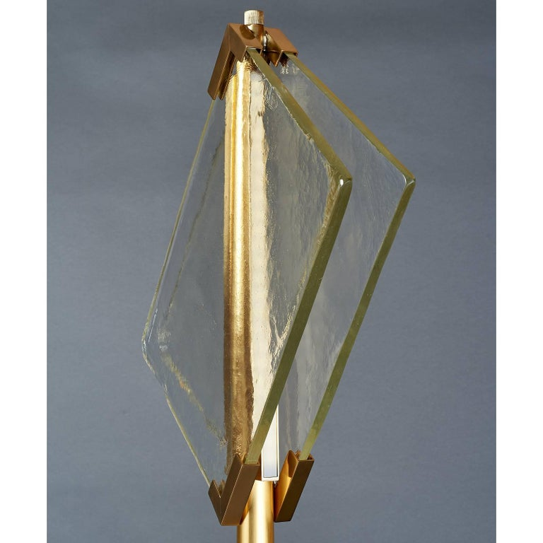 Contemporary Pair of Roberto Rida Floor Lamps with Vintage Venini Glass For Sale