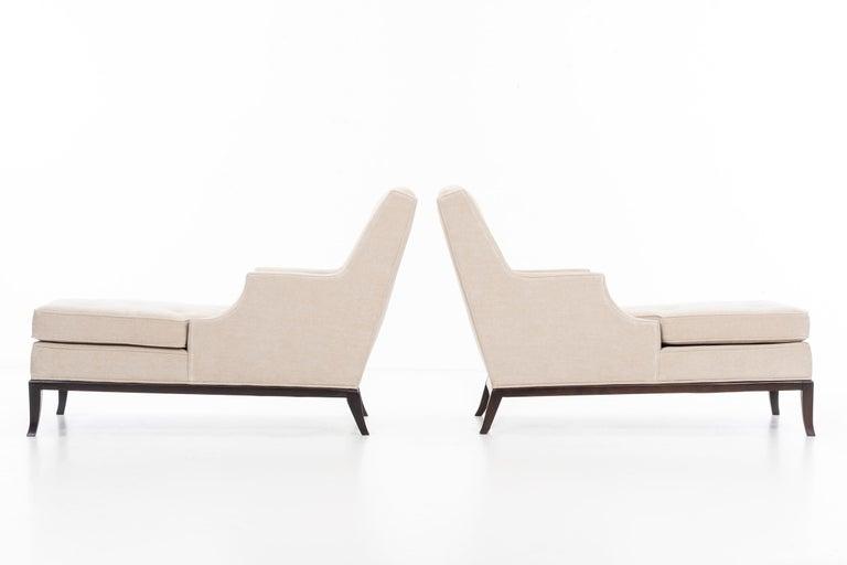 Mid-Century Modern Pair of Robsjohn-Gibbings Chaise Longues For Sale