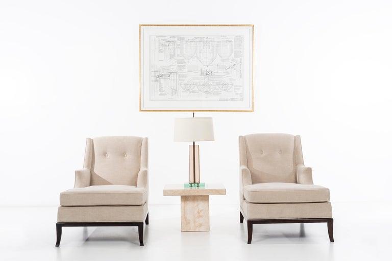 American Pair of Robsjohn-Gibbings Chaise Longues For Sale