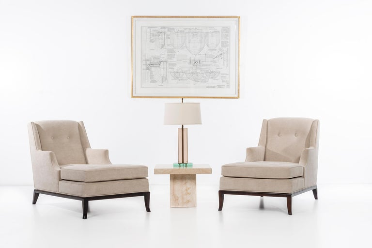 Pair of Robsjohn-Gibbings Chaise Longues In Excellent Condition For Sale In Chicago, IL