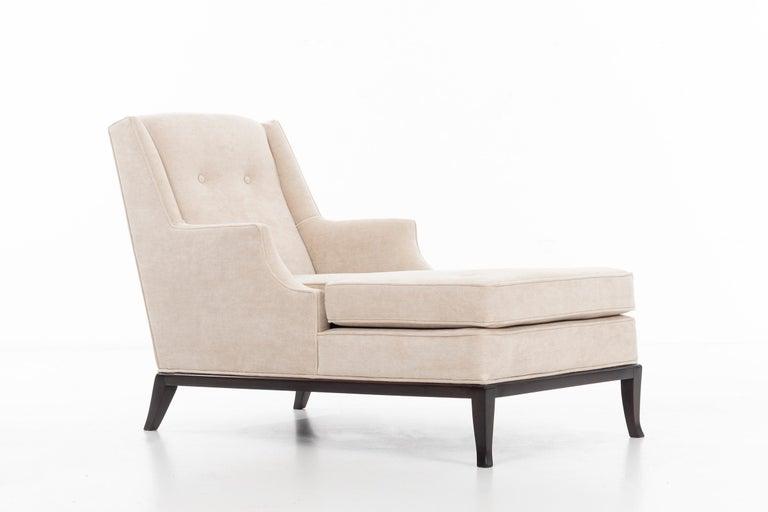 Upholstery Pair of Robsjohn-Gibbings Chaise Longues For Sale